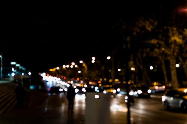 Fondo borroso luz bokeh de la ciudad Foto gratis
