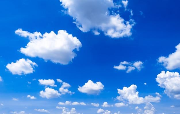 Fondo De Cielo Azul Brillante Con Nubes