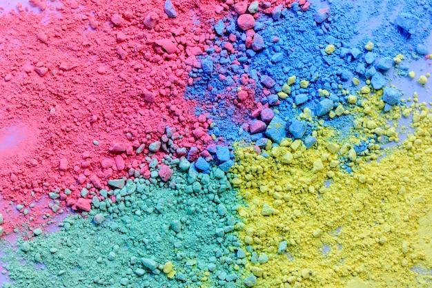 Fondo colorido de polvo de tiza Foto Premium