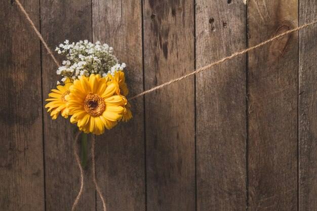 Fondo De Madera Vintage Con Flores Blancas Manzana Y: Fondo De Madera Con Flores Atadas