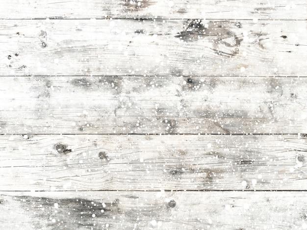 Fondo De Navidad Vieja Textura De Madera Blanca Con Nieve