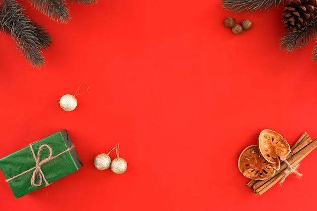 Fondo De Navidad Y A O Nuevo Regalo De Navidad Hojas De