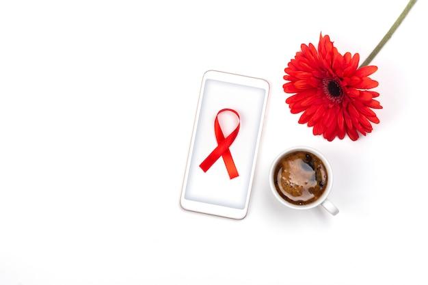 Fondo del día mundial del sida Foto Premium