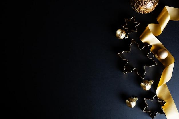 Fondo dorado abstracto de navidad Foto Premium