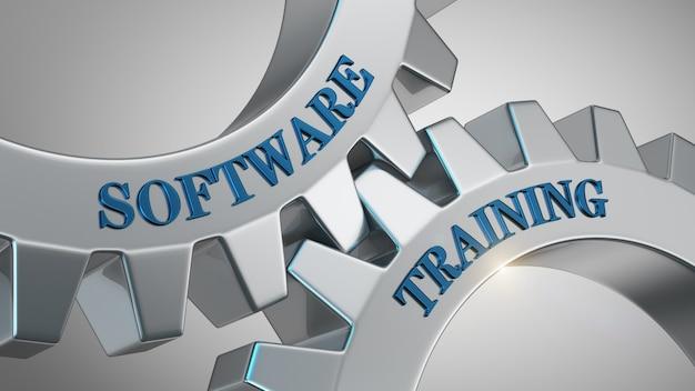 Fondo de entrenamiento de software Foto Premium