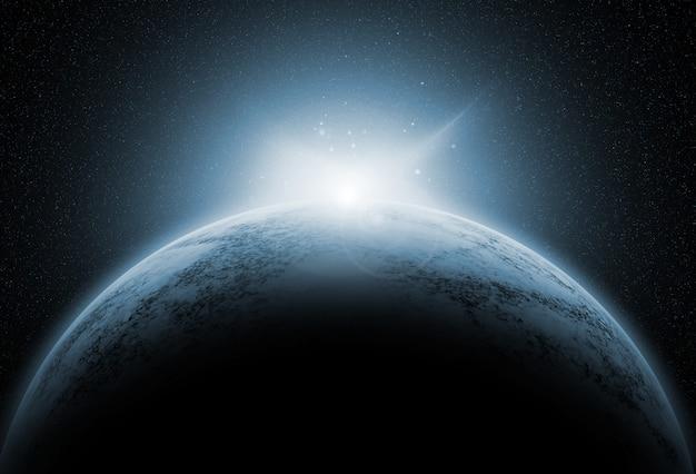 Fondo de espacio con planetas ficticios. Foto gratis