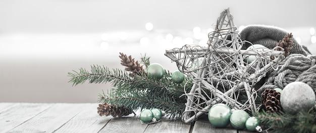 Fondo festivo de año nuevo en un ambiente hogareño. Foto gratis