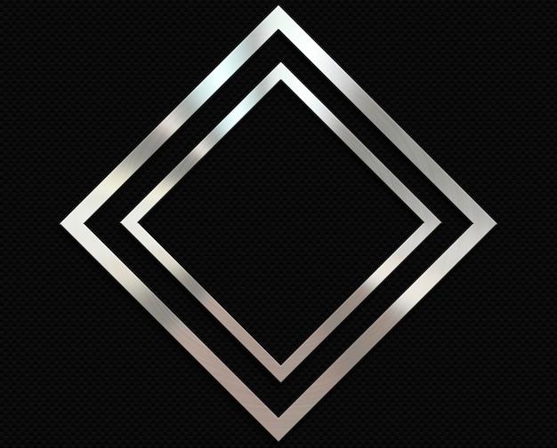 Fondo de fibra de carbono con un marco de diamante de metal. Foto gratis