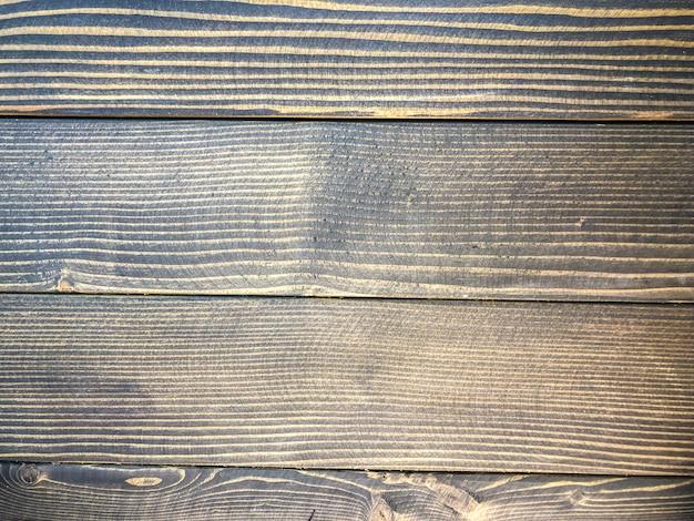 Fondo de la foto de la madera pintada negro, textura de madera. Foto Premium