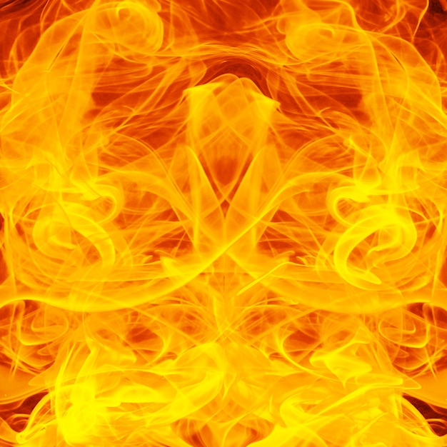 Fondo de fuego y llamas Foto Premium