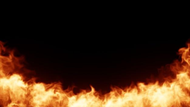 Fondo de fuego Foto Premium