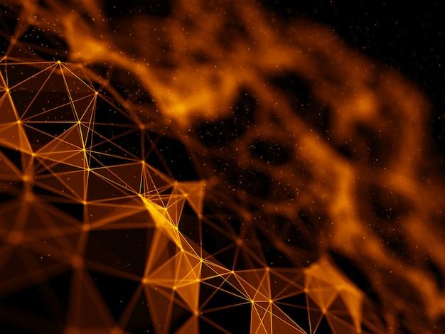 Fondo futurista 3d con diseño de bajo poli plexo Foto gratis