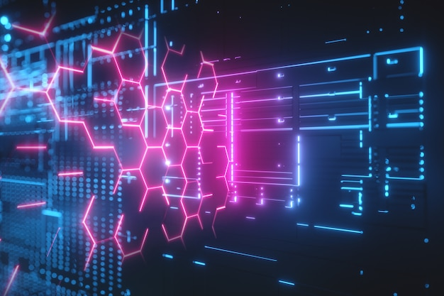 Fondo futurista de alta tecnología. Foto Premium
