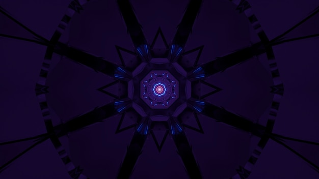 Fondo futurista con luces láser abstractas de color púrpura y azul Foto gratis