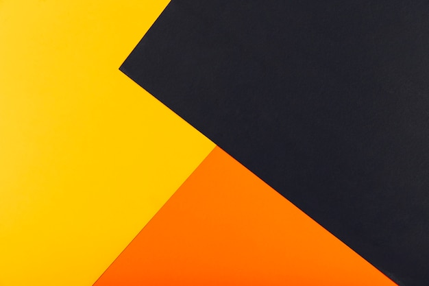 Fondo Geométrico: Fondo Geométrico Amarillo, Naranja Y Negro