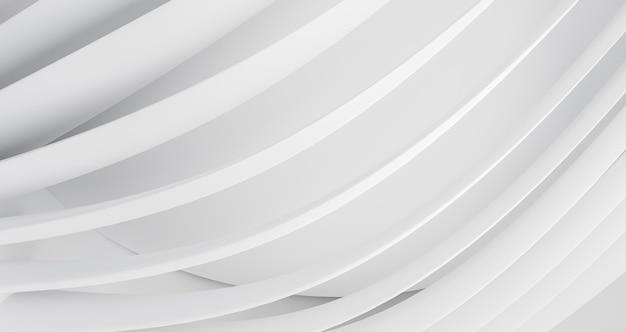 Fondo geométrico moderno con líneas redondas blancas Foto gratis