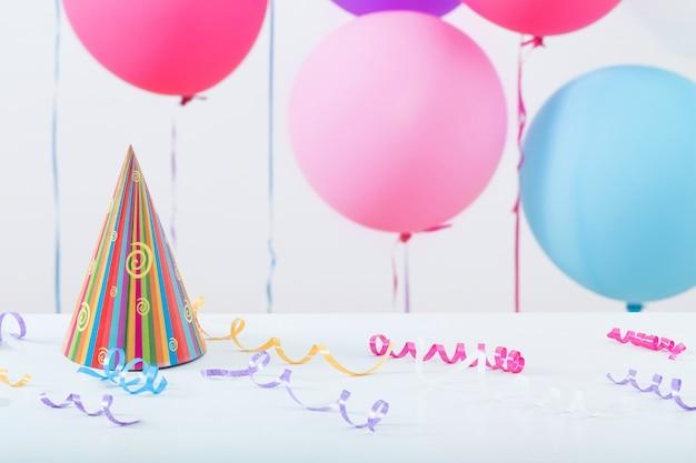 Fondo de globos para cumpleaños Foto Premium