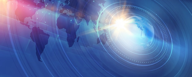 Fondo gráfico moderno de noticias mundiales digitales Foto Premium