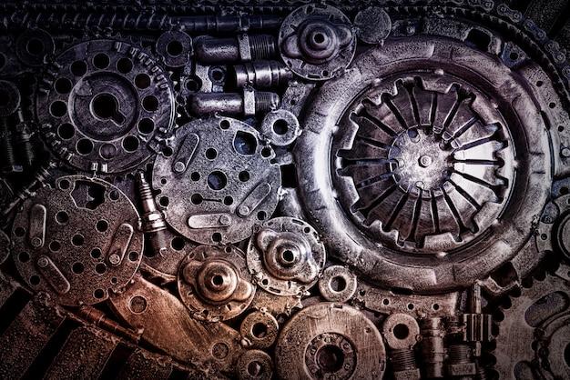Fondo industrial de maquinaria de acero. Foto Premium