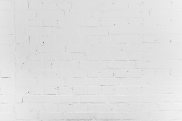 Fondo de ladrillo blanco vacío Foto gratis