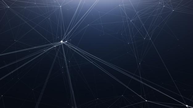 Fondo de línea abstracta de tecnología plexus Foto Premium
