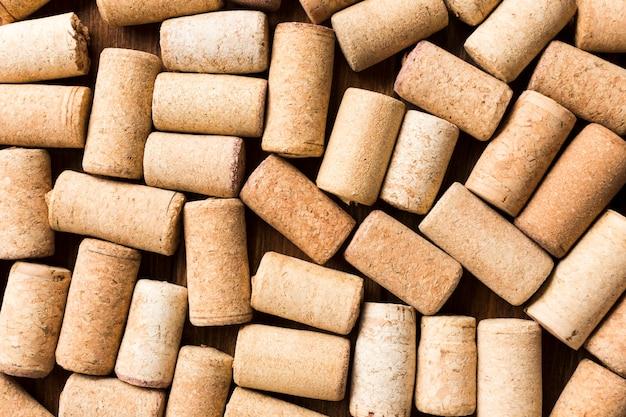 Fondo lleno de corchos de vino Foto gratis