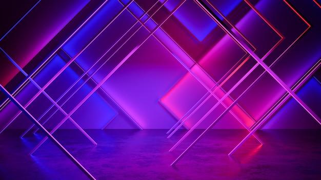 Fondo de luz de neón futurista moderno Foto Premium