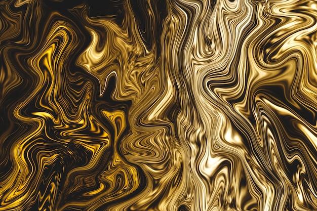 Fondo de mármol líquido dorado de lujo Foto Premium