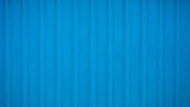 Fondo de metal corrugado azul y superficie de textura Foto Premium