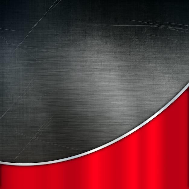 Fondo de metal grunge con una textura de metal pulido rojo Foto gratis