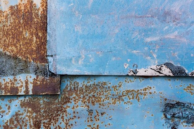 Fondo metálico azul oxidado Foto gratis