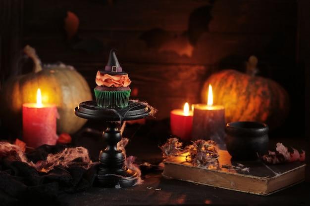 Fondo místico de halloween Foto Premium