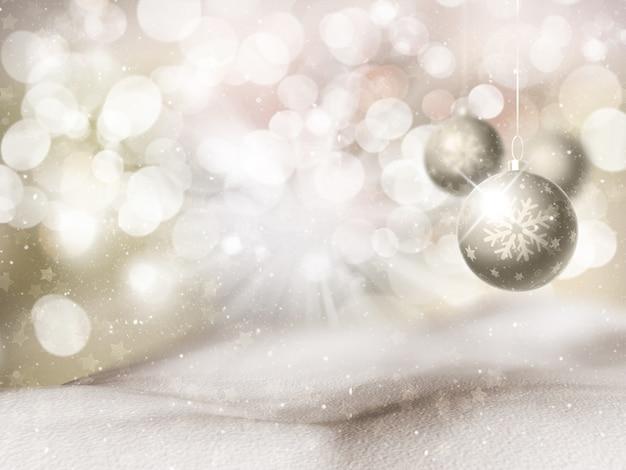 Fondo de navidad con adorno colgante Foto gratis