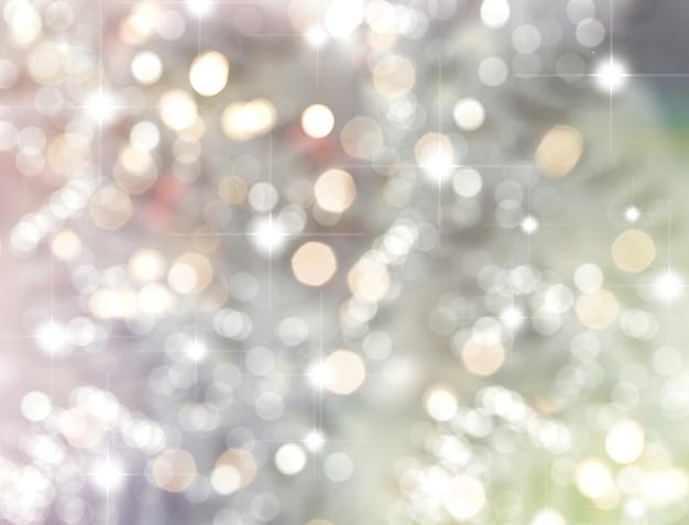 Fondo de navidad de estrellas y luces bokeh Foto gratis
