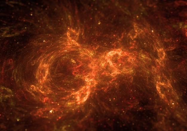 Fondo de nube espacial en fuego Foto gratis
