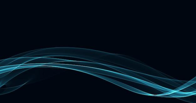 Fondo de onda que fluye azul liso abstracto Foto gratis