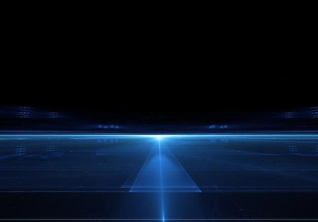 Fondo Oscuro Con Luz Brillante Azul