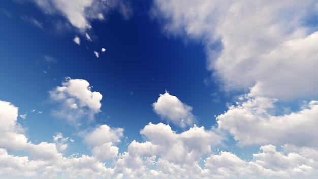 Fondo De Pantalla De Cielo Azul Con Nubes