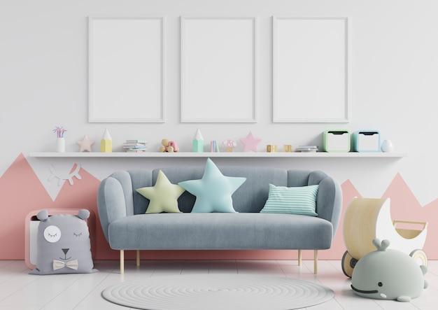 Fondo de pantalla de habitación infantil interior Foto Premium