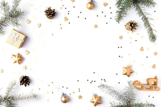 Fondo de pantalla de navidad. 2020 aislado en blanco. Foto Premium
