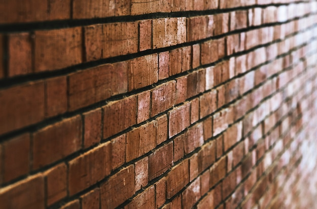 Fondo de pared de ladrillo rojo marrón Foto gratis
