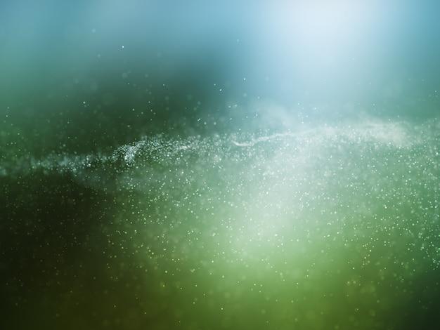 Fondo de partículas cibernéticas 3d con puntos fluidos Foto gratis
