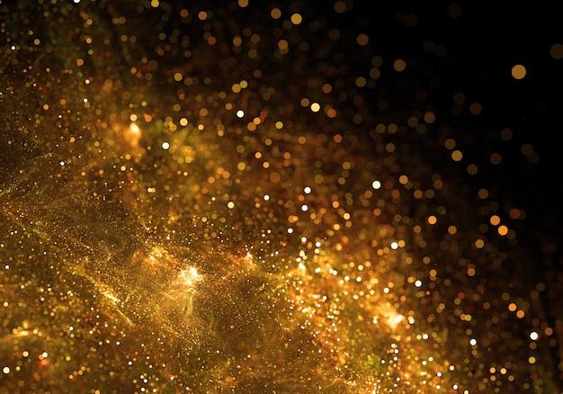 Fondo de partículas doradas Foto gratis