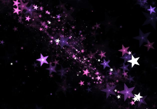 Fondo De Partículas De Estrellas Bonitas Descargar Fotos Gratis