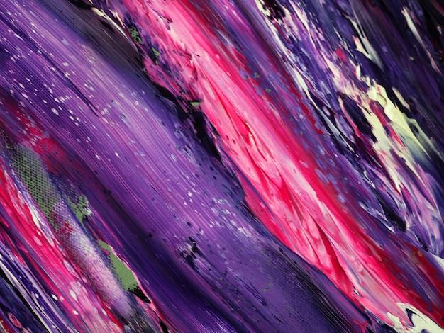 Fondo púrpura del extracto de la pintura de aceite del color Foto Premium