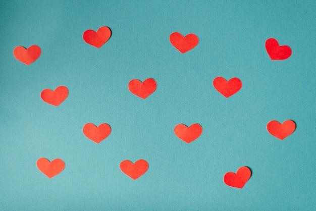 Fondo Romantico Del Dia De San Valentin Corazones Lindos Planos