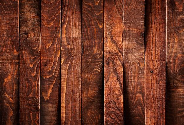 Fondo de tablones de madera oscura Foto Premium