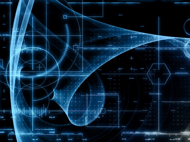 Fondo de tecnología abstracta Foto gratis