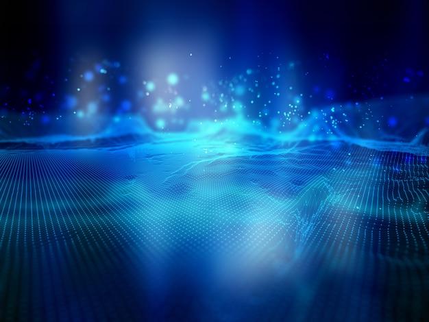 Fondo de tecnología de conexiones de red Foto gratis