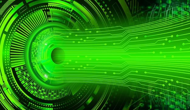 Fondo de tecnología futura de circuito verde cyber eye Foto Premium